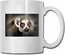 LCYYDECO Porzellan Kaffeetasse Lemur Lace Keramik