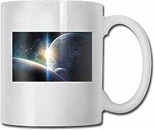 LCYYDECO Porzellan Kaffeetasse Planeten Bunte