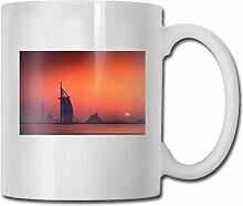 LCYYDECO Porzellan Kaffeetasse Sonnenuntergang