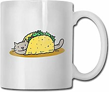 LCYYDECO Porzellan Kaffeetasse Taco Cat Pet