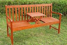 LD Gartenbank, Sitzbank mit klappbarer Tisch