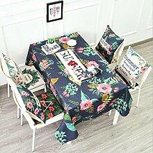 LD&P American Pastoral Baumwolle und Leinen Tischdecke Staubdicht runden Tisch rechteckigen Tisch Couchtisch Tuch Tischdekoration Tischdecke,D,140*140cm