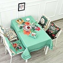 LD&P American Pastoral Baumwolle und Leinen Tischdecke Staubdicht runden Tisch rechteckigen Tisch Couchtisch Tuch Tischdekoration Tischdecke,J,85*85cm