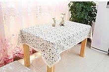 LD&P Baumwolle rechteckige Tischdecke Couchtisch, runder Tisch, quadratischer Tisch, rechteckiger Tisch, Western Tisch Staub Tisch Tuch Größe,R,150*200cm