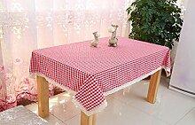 LD&P Baumwolle rechteckige Tischdecke Couchtisch, runder Tisch, quadratischer Tisch, rechteckiger Tisch, Western Tisch Staub Tisch Tuch Größe,U,150*150cm