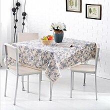 LD&P Baumwolle und Leinen rechteckige Tischtücher Home Teetabellen Spitze Staubdicht Tischdecke für Küche Dinning Pub Tischplatte Dekoration,I,110*160cm
