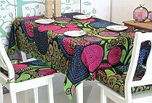 LD&P Baumwollfarbendruck und Färben Tischdecke Staubdicht Tischdecke für Küche Essen Pub Tischplatte Dekoration Mehrzweck Handtuch,Color,140*140cm