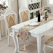 LD&P Einfache europäische Tischfahne mehrfarbige Tischläufer Tischdecke Decke Handtuch Möbel Ausstellungshalle Dekoration,Light green,32*180cm
