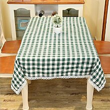 LD&P Einfache Tischdecke Restaurant Restaurant Tischdecke Hausdekoration Staubdicht Mehrzweck Handtuch Verschiedene Größen,green,140*250cm