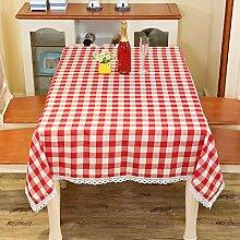 LD&P Einfache Tischdecke Restaurant Restaurant Tischdecke Hausdekoration Staubdicht Mehrzweck Handtuch Verschiedene Größen,red,90*90CM