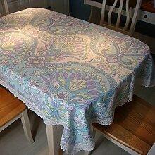 LD&P Ethnic Cotton Print Tischdecke Hochzeit, Restaurant oder Bankett Tischdecke Rectangular Tischdecke Verschiedene Größen,A,90*90cm