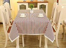 LD&P Europäische Baumwoll-Leinen Tischdecke rechteckiger Couchtisch, runder Tisch überdachter Tuch Mehrzweck-Party-Picknicktisch Tuch Multi-Größe,K,120*170cm