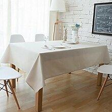 LD&P Europäische Einfarbig Home Dekoration Tischdecke beige dicke Tischdecke Küche Esszimmer Tischdecke Multi-Size,Beige,140*200cm