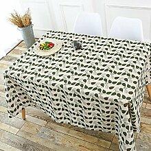 LD&P Europäische klassische Tischdecke rechteckige Couchtisch Baumwolle und Leinen Tischdecke Vielzahl von optionalen staubdichten Heimtextilien Tischdecken,D,120*160cm