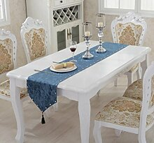 LD&P Europäische Tischfahne Gold Samt Tee Tisch Flagge Bohrer Abzug Tischläufer TV-Schrank, Esstisch, eine Vielzahl von Tischfahne,A,33*180cm