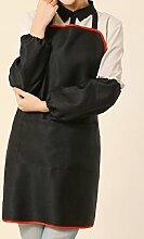 LD&P Frauen einstellbar Schürzen der Formel Halter, Ölverschmutzung, Tasche, Gartenarbeit Kochen Grill-Schürzen,red,75cm*65cm