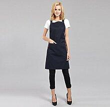 LD&P Frauen Leinenschürze Tasche, verstellbare Schürzen, Koch spezielle Schürzen,black,one size