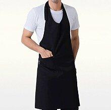 LD&P Geeignet für Männer und Frauen, eine Tasche, verstellbare Schürzen, Küchenschürzen Familie,black,80cm*70cm