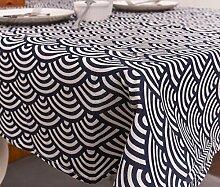 LD&P Geometrische nationale Wind Baumwolle und Leinen Tischdecke Restaurant Heimtextilien Tischdecke Multifunktions-Cover Tuch, Abendessen, Sommer und Picknick Tischdecke,A,90*90CM