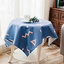 LD&P Geometrisches Muster Tischdecke handbemaltes Hirtenquadrat Tischdecke Couchtisch Staubdicht / Antifouling Heimtextilien Tischdecke,A,110*110cm