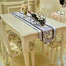 LD&P High-End-europäischen Gartentisch Läufer Couchtisch TV-Schrank Handtuch Thanksgiving Day, Weihnachten, Hochzeit Heimtextilien,purple,36*200cm