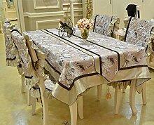 LD&P High-End-europäischen Gartentisch Läufer Couchtisch TV-Schrank Handtuch Thanksgiving Day, Weihnachten, Hochzeit Heimtextilien,Coffee,36*200cm