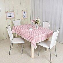 LD&P Hochwertige neue Staubdicht / Antifouling Tischdecke Couchtisch, Tisch Haus Dekoration Spitze Rosa Tischdecke,Pink,90*90cm
