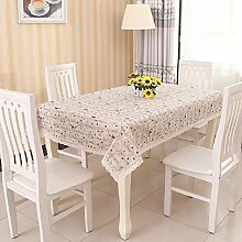 LD&P Hochwertige rechteckige Nachttischdecke Baumwolle Leinen Tischdecke Spitze Staubdichte Tisch Küche Geschirr Tischplatte Dekoration,C,100*100cm