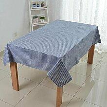 LD&P Hochwertige rechteckige Staubdicht / Antifouling Tischdecke Haus Tisch Küche Geschirr Geschirr einfach zu waschen Tischdecke,Dark blue,130*130cm