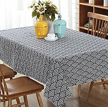 LD&P Home hochwertigen Tischstaub Tischdecke Tischdecke, rechteckige Tisch Tischdecke Sommer und Picknick Tischdecke, Polyester Tischdecke Heimtextilien,A,140*220cm