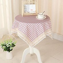 LD&P Home Mode Baumwolle Tisch Esszimmer Küche Esstisch Top Tischdecke Multi-Size,purple,100*100cm