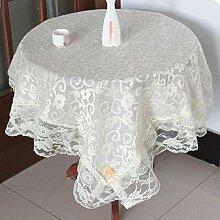 LD&P Home multifunktionale Spitze Tischdecke Tischdecke für Hochzeit, Party, Tisch, Couchtisch Tischtücher, hochwertige Luxus Tischdecke,A,150*200cm