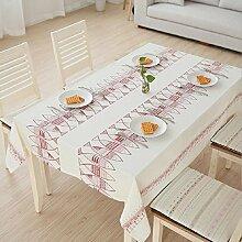 LD&P Im japanischen Stil Tischtuch Tischdecken Papua quadratischen Tisch Leinentischdecke runden Tisch Rechteck Tier gestickte Tischdecken Staub,red,140*140cm