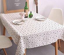 LD&P Japan und Südkorea einfache geometrische Tischdecke schwarz und weiß klassische Leinen Tischdecke / Tischdecke Café Shop Restaurant Heimtextilien Mehrzweck-Deckel Tuch,A,140*200CM