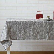 LD&P Japanische Leinen Tischdecke Couchtisch, runder Tisch, rechteckige Tisch Wohnkultur Tischdecke Party Sommer Picknick Tischdecke,B,60*60cm