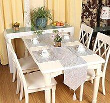 LD&P Luxus monochrome Pailletten Mode glänzend Tischläufer für rustikale Hochzeit Braut Dusche Graduierung Party Tischdekoration,white,33*200cm