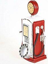 LD&P Metall tun die alte Tanken Maschine Modell Fotografie Requisiten Restaurant Heimtextilien Schaufenster Sammlung von Enthusiasten Haus Handwerk,red,17*10*31cm