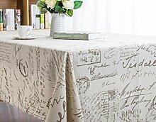 LD&P Mittelmeer Englisch kleine frische Mode Heimtextilien Baumwolle und Leinen Tischdecke Kaffeehaus Tischdecke Mehrzweck-Deckel Tuch,A,140*220cm