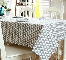 LD&P Moderne einfache Tischdecke schwarz-weiß geometrische Mahlzeit Tischdecke Baumwolle Leinen Kopf Schrank Deckel Handtuch Haus Dekoration Mehrzweck-Deckel Tuch,D,140*180CM