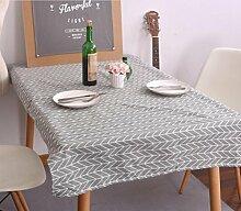 LD&P Moderne einfache Tischdecke schwarz-weiß geometrische Mahlzeit Tischdecke Baumwolle Leinen Kopf Schrank Deckel Handtuch Haus Dekoration Mehrzweck-Deckel Tuch,A,120*160cm