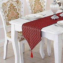 LD&P Moderne Einfachheit Unifarben Tischtisch Couchtisch, TV-Schrank, Schuhschrank Tischläufer Bett Läufer,red,34*180cm