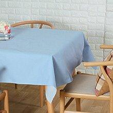 LD&P Neue Tischdecke Baumwoll Leinen Tisch, Couchtisch Tuch rechteckige Küche Tischdecke Dinner Party Tischdecke,blue,140*140cm