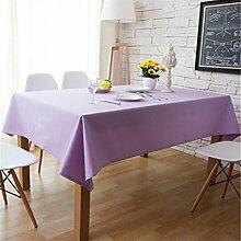 LD&P Pastoral Creative Purple Tischdecke TV Schrank, Couchtisch Leinwand Staubdicht / Antifouling Home Decoration Tischdecke,purple,140*180cm