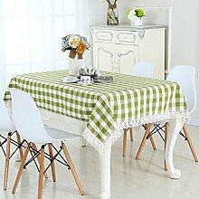 LD&P Rechteckig Staubdicht / Antifouling Tischdecke Couchtisch, runder Tisch, rechteckiger Tisch, Tischdecke Tischdecke,green,145*195cm