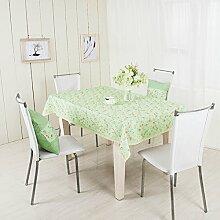 LD&P Rechteckige neue grüne Tischdecke Couchtisch Küche Esstischdekoration Staubdicht / Antifouling Tischdecke,green,100*140cm