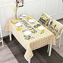 LD&P Tischdecke Bettwäsche Couchtisch anti-hot rechteckige Tischdecke Staubdicht Tisch Küche Geschirr Tischplatte Tischdecke,E,140*200cm