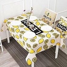 LD&P Tischdecke Bettwäsche Couchtisch anti-hot rechteckige Tischdecke Staubdicht Tisch Küche Geschirr Tischplatte Tischdecke,C,140*230cm