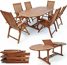 LD Sitzgruppe Sitzgarnitur Holz Gartengarnitur