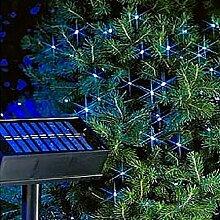 LD Weihnachten Deko 200 LED Weihnachts lichterkette Solar Lichterkette Außenbeleuchtung Garten Blau