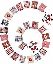 LD Weihnachten Deko ADVENTSKALENDER Textil